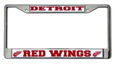 Detroit Red Wings Chrome License Plate Frame Fun Gift for any occasion great products shipped from the USA License Plate Frames, License Plates, Detroit Red Wings, Team Names, Chrome, Fan, Sports, Logo, Logos