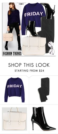 """""""Fashion Trends -Leathersatchel"""" by leathersatchel ❤ liked on Polyvore featuring Madewell and Gianvito Rossi"""
