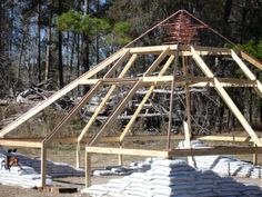 The Pyramid Greenhouse - The 2x4 frame.