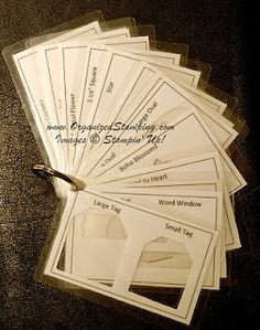 Punch Inventory Booklet Stampin' Up! Organizing the craft room Scrapbook Storage, Scrapbook Organization, Craft Organization, Scrapbook Rooms, Organizing Tips, Scrapbook Supplies, Cleaning Tips, Scrapbook Paper, Craft Supplies