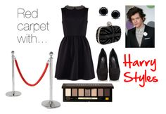 """Red carpet with Harry Styles"" by ohmyjade ❤ liked on Polyvore featuring Carvela Kurt Geiger, B. Brilliant, KARE, Bobbi Brown Cosmetics, OneDirection, harrystyles, 1d and VIP"