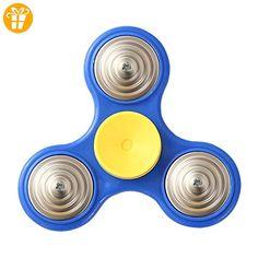 Prettyuk Bunt Spinner Fidget EDC Spielzeug Hand Spinner Finger Spinner Fidget Spielzeug für Erwachsene und Kinder, entlasten Sie Ihre Stress, Angst und Langeweile,4 Farben sind vorhanden (Blau) - Fidget spinner (*Partner-Link)