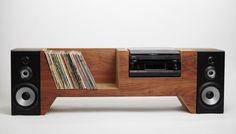 moarrrmagazine:  Record Player Console- Cush Design