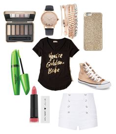 """Golden"" by fnmilfor ❤ liked on Polyvore featuring Pierre Balmain, Hollister Co., Converse, Michael Kors, Jessica Carlyle and BeYu"