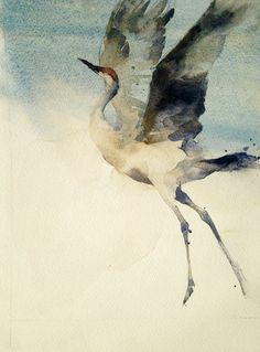 """""""Free"""" 10 x 8 watercolor on arches paper. By Kathryn M. Turner. #TurnerFineArt   www.TurnerFineArt.com."""