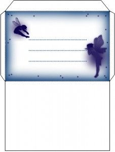 free printable Blue Fairy Envelope