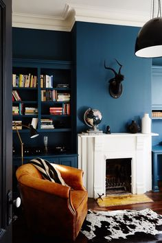 "When it comes to picking out the right shade of blue, Lambie believes the brighter the hue, the better. ""Rich blues tend to be our favorite because the color can change beautifully and dramatically throughout the day, depending on the light,"" she says. Test your color out in a space with plenty of windows to discover its intensity at different times of day."