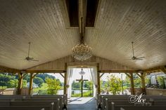 Country Chic ceremony site at Mint Springs Farm Photo by Ace Photography