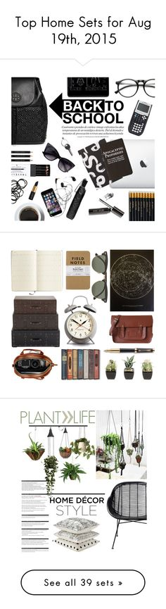 """""""Top Home Sets for Aug 19th, 2015"""" by polyvore ❤ liked on Polyvore featuring interior, interiors, interior design, home, home decor, interior decorating, Tory Burch, Proenza Schouler, INDIE HAIR and Sloane Stationery"""
