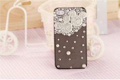 Rhinestones Diamond with Pearl Mickey Case for iPhone 4G, Skytechking.com