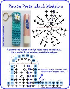 Patron-Portalabiales-llaveros-souvenir a crochet o ganchillo Häkeln oder Häkeln Häkeln oder Häkelanleitung Art Au Crochet, Crochet Diy, Crochet Motifs, Crochet Gifts, Crochet Stitches, Knitting Patterns, Crochet Patterns, Confection Au Crochet, Crochet Keychain
