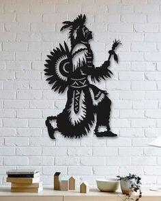 Kızılderili Metal Plaka - Amerindian