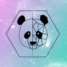 Almofada Panda geometrico do Studio Marcellaguerra por R$55,00