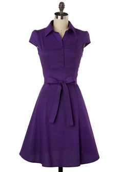 "Grape or ginger? I like that this could be just a ""wear to the grocery store"" dress. Or a picnic. Or a low-key date."
