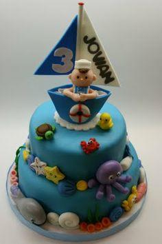 Sailor and Ocean Cake