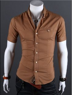 Mens Fitted Short Sleeve Button Down Shirts | Is Shirt