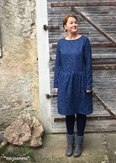 Frau Jette hedinaeht/mojoanma , Webware, kleid, blau,
