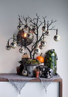 halloween decorations THERE IS A HALLOWS EVE tale Im sure youve never heard before. It is the story of the All-Seeing Tree. You see, there was once a gard. Retro Halloween, Halloween Prop, Dollar Store Halloween, Halloween Trees, Halloween 2020, Diy Halloween Decorations, Holidays Halloween, Halloween Crafts, Happy Halloween
