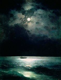 Ivan Konstantinovič Ajvazovskij - The black sea at night (1879)