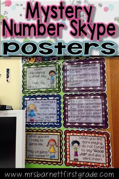 Do you participate in Mystery Number Skyping with your students? If so, these posters make it easy for your class to be prompted with how to respond to the other class without your interruption. Put them in a visible place to where you are Skyping for you