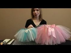 """It's a How-Tutu! Learn how to make an easy tutu skirt without sewing using 6-inch tulle ribbon. Priscilla from Nashville Wraps show you how in this easy how-to.  WHOLESALE TULLE RIBBON: ...  SUPPLIES: 6"""" Tulle R. How, Make,"""