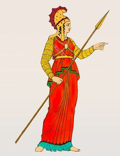 Amazon warrior costume, Ancient Greece clothing. Classical antiquity