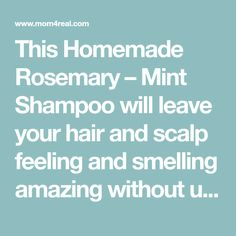 This Homemade Rosemary – Mint Shampoo will leave your hair and scalp feeling and smelling amazing without using harmful chemicals! During the winter, your hair and scalp can really become dry and brittle. Most store bought shampoos contain harmful chemicals that can dry your hair and scalp out instead of helping to moisturize them when...Read More »