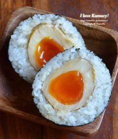 Onigiri with Seasoned Soft-Boiled Eggs