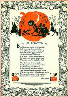 A Nostalgic Halloween: Vintage Halloween Poem