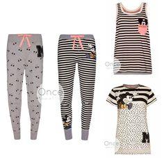 PRIMARK Ladies DISNEY MICKEY MOUSE FAN CLUB GLITTER Pyjamas PJ Pieces #Primark…