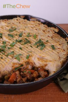 Serve up Clinton's easy-to-make Turkey Shepherd's Pie take on this traditional comfort food! #TheChew