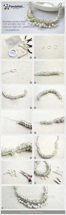 Jewelry Making Tutorial--DIY Necklace with Various Sizes of Jumprings