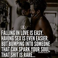 Falling in love is easy. Having sex is even easier. Sexy Love Quotes, True Love Quotes, Romantic Love Quotes, Love Quotes For Him, Dont Settle Quotes, Naughty Quotes, Relationships Love, Relationship Quotes, Settling Quotes