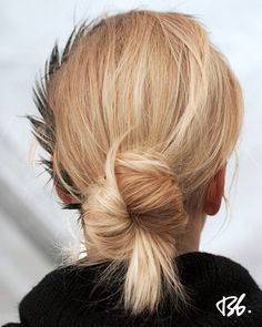 Fall/Winter Fashion Week. Hair by Bb. Stylist Laurent Philippon. #fashionweek #fashion #hair #bumbleandbumble #bun #style