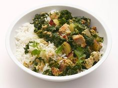 Get Kale-Turkey Rice Bowl Recipe from Food Network