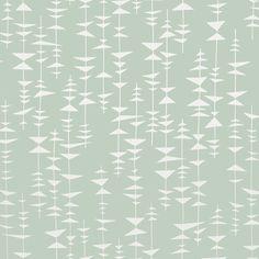 Papier peint Ditto, collection 3, édité par MissPrint / Référence : MISP1137  Motifs géométriques composé de lignes et de triangles qui apportent un rythme à la pièce.