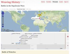Weaving History.  Create timelines and timemaps at the click of a button.
