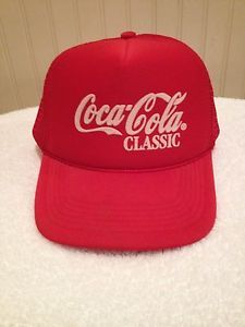 very nice beautiful Vintage Rare Coca Cola Classic Trucker Mesh SnapBack Hat.  Made In- Sri Lanka Made By- Cobra Caps Size- One Size Fits All (SnapBack, and very very snug) Material- 100% Polyester  ****This cap his a MUST HAVE for any Coca Cola Collector!!***** very nice beautiful Vintage Rare Coca Cola Classic Trucker Mesh SnapBack Hat.  Made In- Sri Lanka Made By- Cobra Caps Size- One Size Fits All (SnapBack, and very very snug) Material- 100% Polyester