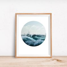 Sea Print, Wave Print, Wave Art, Surf Photography, Photo Art, Sea Art, Sea Wall Art, Nature Photography, Surf Print, Instant Download Printable Art, Blue Prints, Ocean Photography, Circle Print, Surf Art, Geometric Print, Ocean Print, Ocean Art, Blue Wall Art, Outdoor Photography  _______________________  ORIGINAL MODERN DIGITAL ART A simple, fast and affordable way to give your decor a contemporary and fresh twist. SUPER QUICK Immediately after purchase you will receive an email from Etsy…