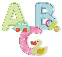 Baby-Alphabet-Teaser.  Free serial alpha from Bernina.