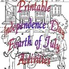 Printable Independence Day Fourth of July Activities  contains the words to the Declaration Of Independence. Build a 3D replica of the Statue of Lib...
