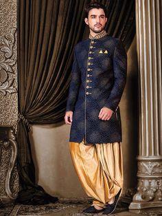 Silk Classy Blue Indo Western
