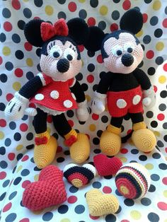 Mickey y Minnie amigurumis Oma & Mutti