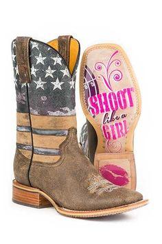Tin Haul Womens Boots - American Woman