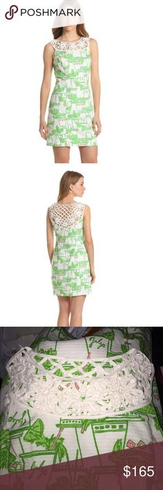 """Lilly Pulitzer Lacina """"Just add Mint"""" Dress 0 Lilly Pulitzer Lacina dress in Just Add Mint! Gorgeous and classy. Size 0,  perfect condition; NWOT Please do not ask for the lowest price, I always list my items as low as I can go except on Merc. Also free shipping is only offered on bundles, so please check out my closet :) lots of Anthropologie items! Lilly Pulitzer Dresses"""