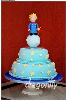 The Little Prince Cake / Bolo Pequeno Príncipe by Dragonfly Doces, via Flickr