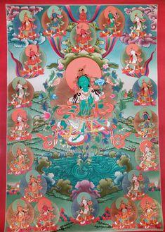 21 Taras meditation tangka