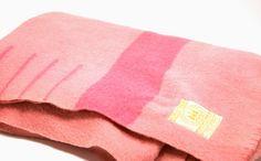 Pink Wool Blanket - Hudson Bay Blanket