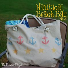 Nautical Beach Bag - Great instructions