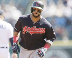 Cleveland Indians' Carlos Santana rounds the bases after a solo home run during the first inning against the Detroit Tigers, Saturday, June 25, 2016 in Detroit. Indians won 6-0 (AP Photo/Carlos Osorio)